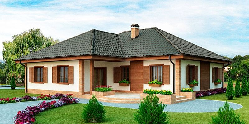 одноэтажные частные дома